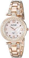 August Steiner Women's AS8137RG Analog Display Swiss Quartz Rose Gold Watch