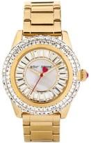 Betsey Johnson Women's Gold-Tone Stainless Steel Bracelet Watch 41mm
