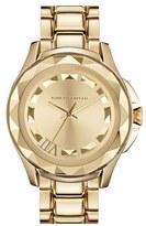 '7' Faceted Bezel Bracelet Watch, 44mm